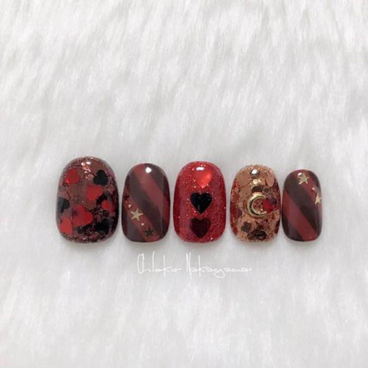 指先まで甘いチョコ色に♡ブラウンカラーで彩るバレンタインチョコネイルカタログ