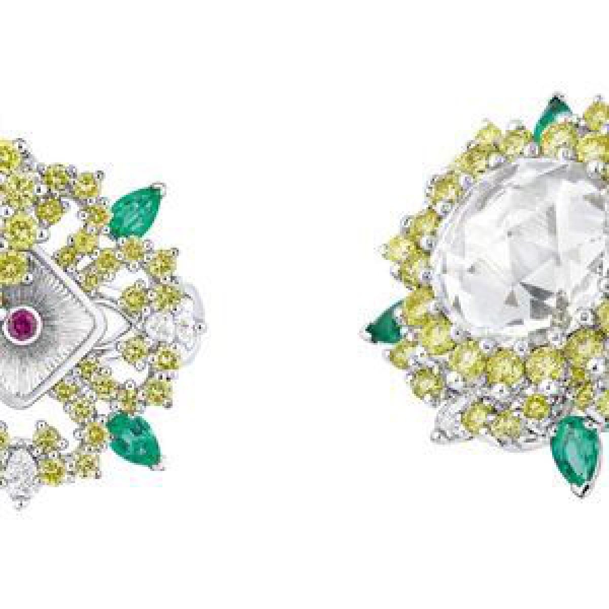 ディオールが新作ハイジュエリー発表、ダイヤモンドの下から宝石が現れる仕掛けも