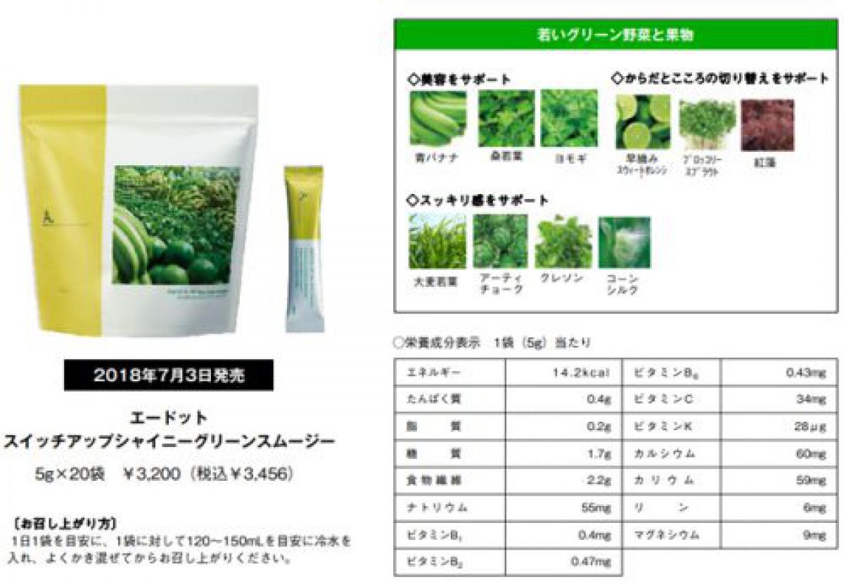 若い野菜や果物をベースとした野菜粉末加工食品を発売/ポーラ