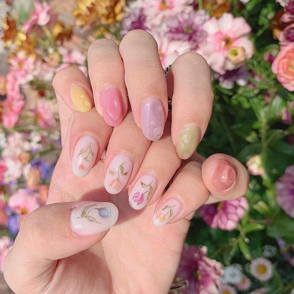 指先に咲く小さな春♡ロマンチックな季節は5つの春のお花ネイルで可愛く彩って